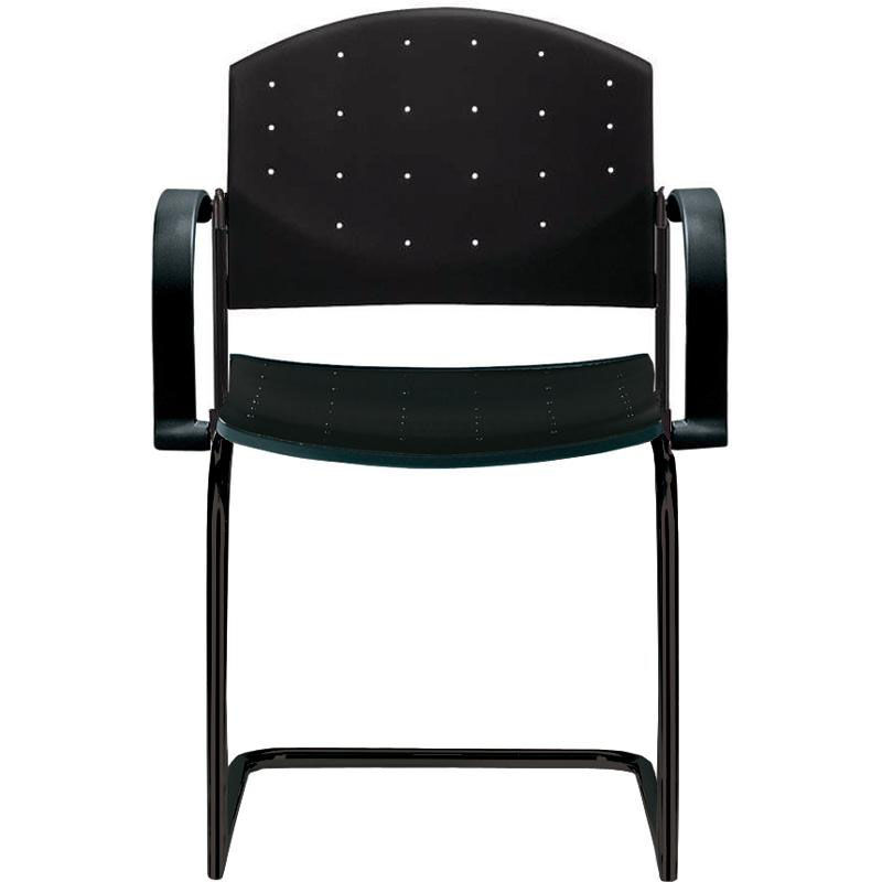 Dauphin Chairs Eddy Sled Base Black Stack Side Chair